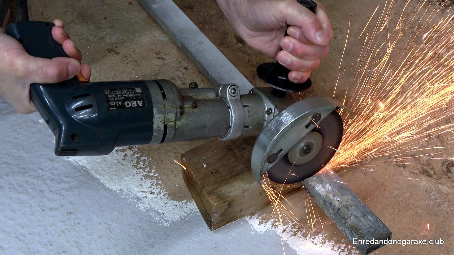 rebarbadora o amoladora para taller casero