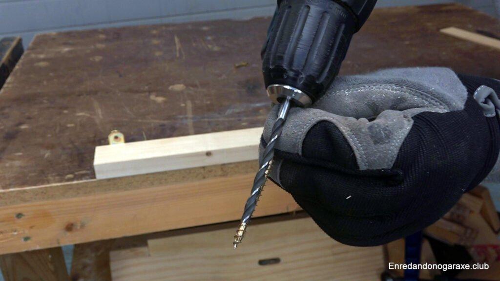 broca para madera con mayor diámetro que el tornillo