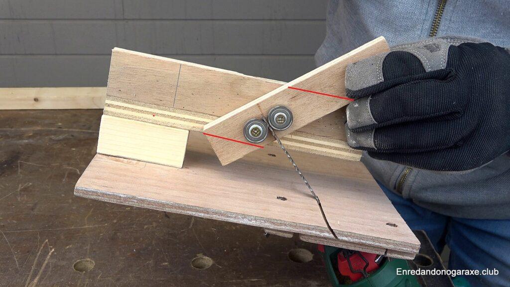 cortar el soporte de los rodamientos