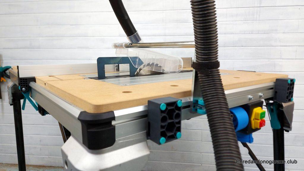 mastercut 2600 en modo sierra de mesa para carpintería